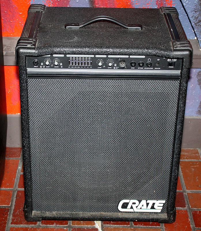crate bx 100 bx100 bass amplifier combo vinyl amp cover crat047 ebay. Black Bedroom Furniture Sets. Home Design Ideas