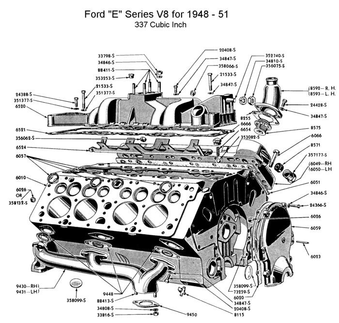 exploded view of engine parts big block chevy html