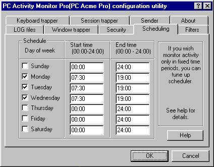 Pc Activity Monitoring
