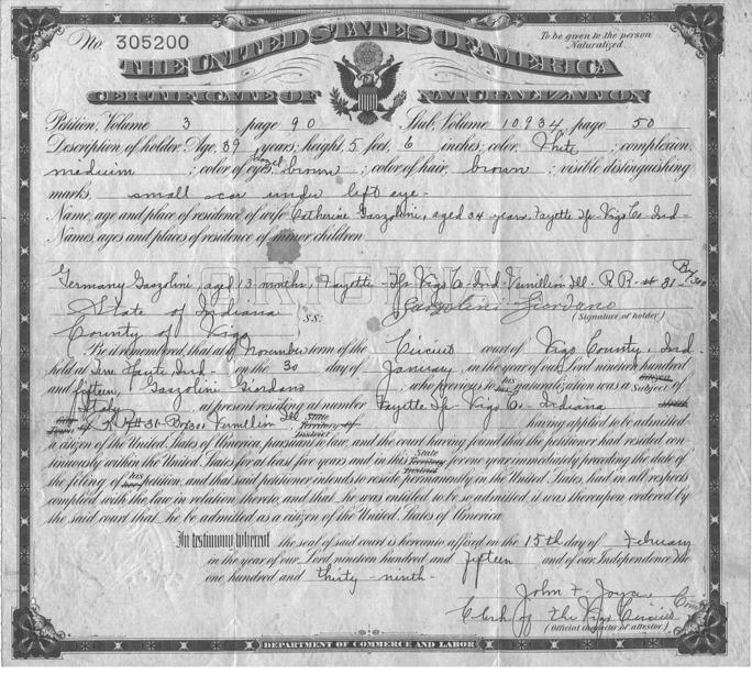 Certificate Of Naturalization : mifcu.org