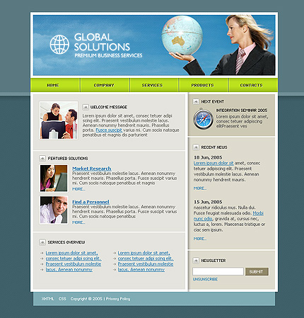 CSS templates. . Here you'll find a number of free CSS templates ...