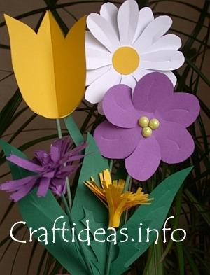 Paper Craft Ideas on Paper Flowers Are Easy To Do  And Lots Of Fun Too    Day Crafts