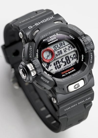 The Casio G shock watch has